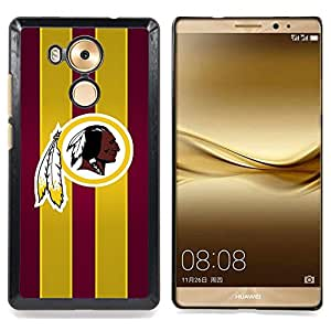 - Chief Tribal Sports Team - - Cubierta del caso de impacto con el patr??n Art Designs FOR Huawei Mate 8 Queen Pattern
