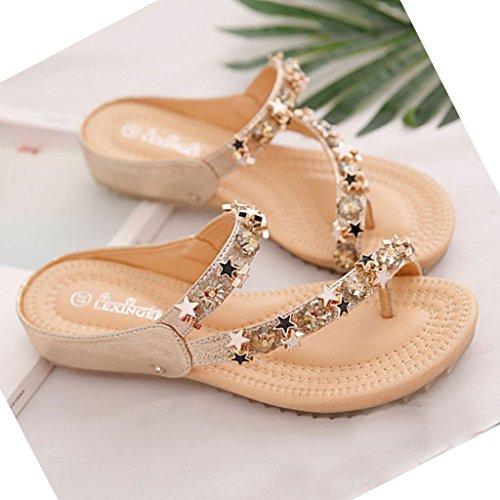 Mujer para CN36 Plateado Dorado Chanclas EU36 Plateado Pantofole UK4 xpEF67Rwxq