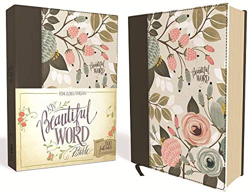 KJV, Beautiful Word Bible, Cloth over Board, Multi-color Floral, Red Letter Edition: 500 Full-Color Illustrated Verses