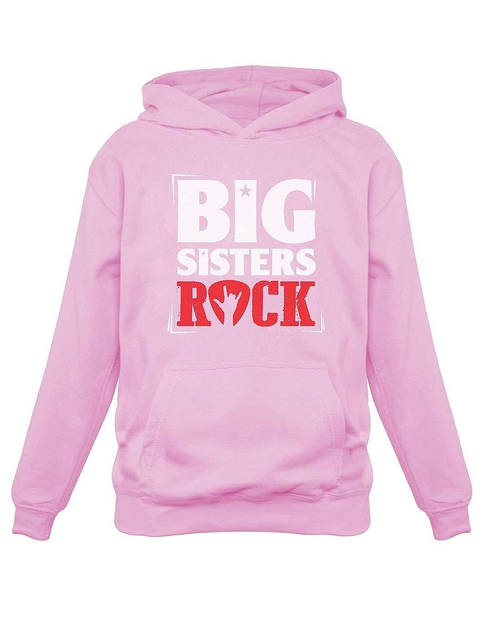 Sudadera con Capucha para niños - Big Sisters Rock - Regalo Original de cumpleaños para Hermanas Mayores: Amazon.es: Ropa y accesorios