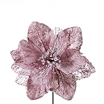 Rosa Weihnachtsdeko.Amazon De Weihnachtskunstblumen Dekorativ Deko Weihnachten