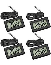 Thlevel 4 x digital LCD-termometer temperaturmonitor med extern sond för kyl och frys kyl akvarium