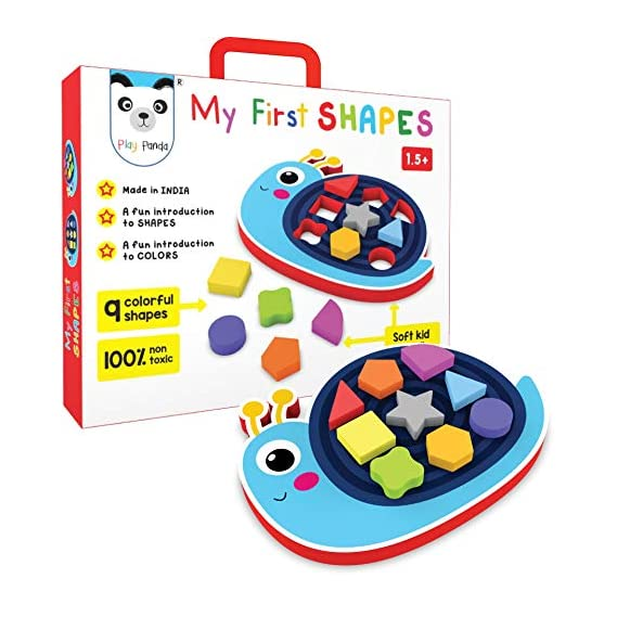 PLAY PANDA My First Shapes : Snail. A Fun Introduction to Shapes and Colors. Early Skill Development Like Motor Skills