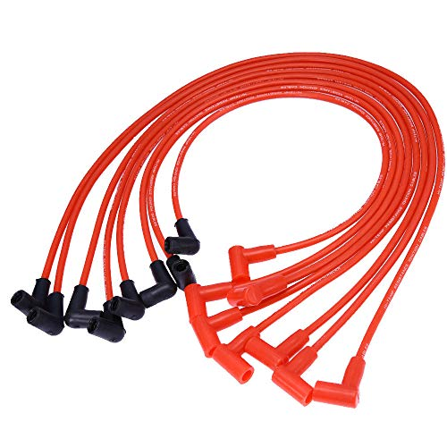 - SMALL BLOCK CHEVY 265-305-327-350-400 RED HEI Spark Plug Wires Over Valve Covers (8Pcs)