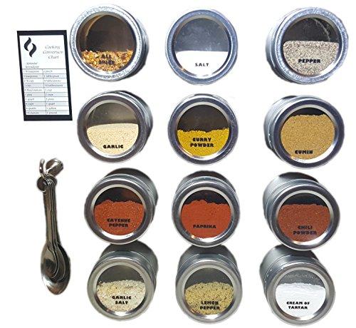 12 tin magnetic spice rack