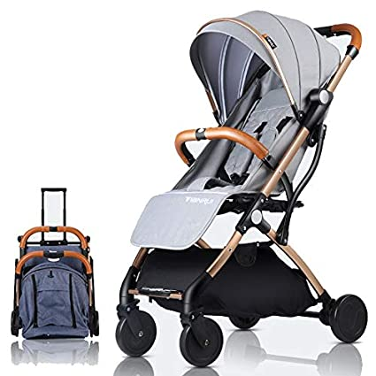 TianRui Cochecito de bebé plano Ligero portátil que viaja niños ...