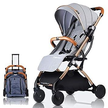 TianRui Cochecito de bebé plano Ligero portátil que viaja ...