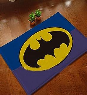 Great Batman Mats Cover Non Slip Machine Washable Outdoor Indoor Bathroom Kitchen  Decor Rug ,