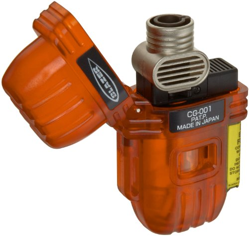 Blazer CG-001 Butane Refillable  Torch Lighter, Orange by Blazer