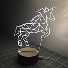 Ancaixin Unicorn Optical Illusion Lamp Nightlight USB Touch Button LED Desk Table Warm Light