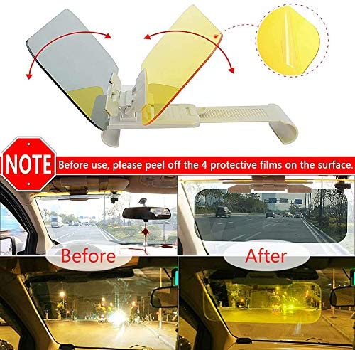 Universal Anti-Dazzle Driving Visor Extender UV-Filtering Eye Protector Heart Horse Sun Visor for Car Windshield Upgraded Day and Night Anti Glare Sunshade Visor Extender HD Clip On Glasses