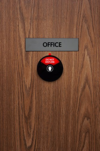 Kichwit Privacy Sign, Do Not Disturb Sign, Out of Office Sign, Welcome Please Knock Sign, Office Sign, Conference Sign for Offices, 5 Inch, Black by Kichwit (Image #6)