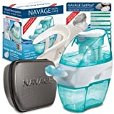 Navage Nasal Irrigation Deluxe Bundle: Naväge Nose Cleaner, 48 SaltPod Capsules, Countertop Caddy, and Travel Case. 162.75 if purchased separately. You save 52.80 (32%)(Black)