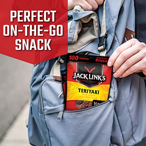 Jack Link's Beef Jerky Variety Pack Includes Original and Teriyaki Beef Jerky, Good Source of Protein, 96% Fat Free, No Added MSG, (9 Count of 1.25 oz Bags) 11.25 oz