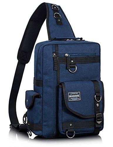 Leaper Messenger Bag Outdoor Cross Body Bag Sling Bag Shoulder Bag Dark Blue2 by Leaper