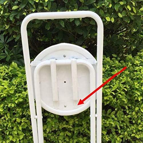 YCSD 6 X Ronde Tabouret Pliable Strapontin Petit Tabouret De Bar Bureau Cuisine Parties Chaise Haute, Noir (Taille : Seat Height 75cm)