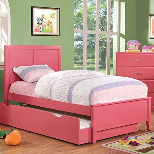 24/7 Shop at Home 247SHOPATHOME IDF-7941PK-T Youth Bed, Twin, Pink