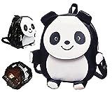 KSB Cute Panda Elephant Backpack PU Leather School Shoulder Bags. (Panda)