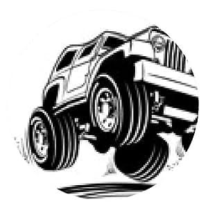 alfombrilla de ratón jeep Vector de dibujos animados - ronda - 20cm