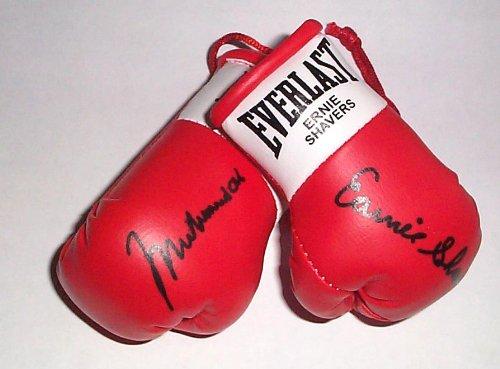 Autographed Mini boxing Gloves Muhammad Ali v Ernie Shavers
