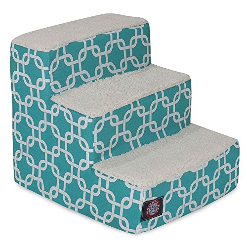 Majestic Pet 3 Step Portable Pet Stairs By Products Teal Lin