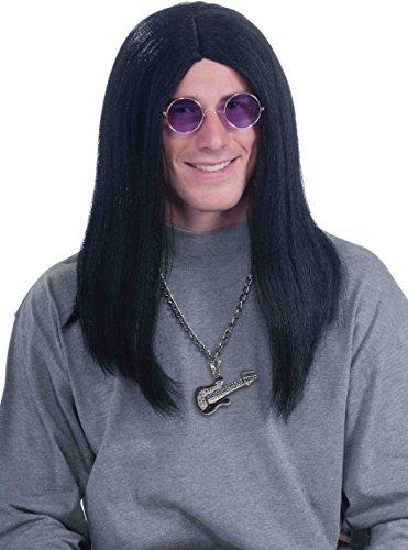 Men Halloween Costumes Long Hair (Forum Novelties Men's 80's Super Rocker Ozzy Costume Wig, Black, One Size)