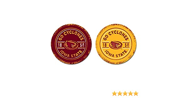 One Size NCAA Legacy Iowa State Cyclones Thirsty Car Coaster 2-Pack Sandstone
