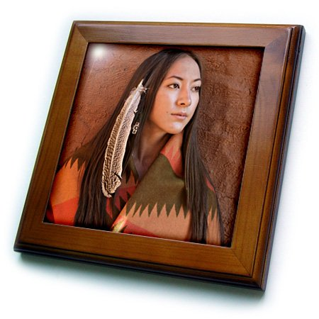 Cherokee Indian Costumes For Women (3dRose ft_92706_1 New Mexico, Cherokee Woman, Native American-Us32 Jmr0634-Julien Mcroberts-Framed Tile, 8 by 8-Inch)