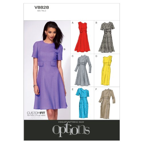 Vogue Patterns V8828A50 Misses' Dress Sewing Pattern, Size A5 (6-8-10-12-14)