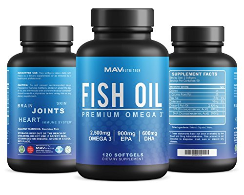 Premium fish oil omega 3 4x strength 2 500mg 900mg for Fish oil joints