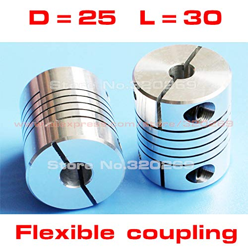 3mm x 4mm Rigid Shaft Coupler CNC Stepper Servo Motor Coupling Clamp Type