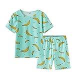 MyFav Girls Cute Banana Summer Pajama 2 Pieces Casual Sleepwear 6-14 Years Child