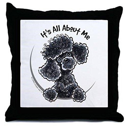 (CafePress - Black Poodle Lover - Decor Throw Pillow (18