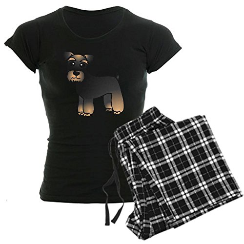 CafePress - Cute Miniature Schnauzer Cartoon Pajamas - Womens Novelty Cotton Pajama Set, Comfortable PJ Sleepwear