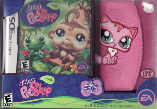 Littlest Pet Shop Jungle for Nintendo DS LIMITED EDITION Set Includes: Game & Fuzzy DS Case