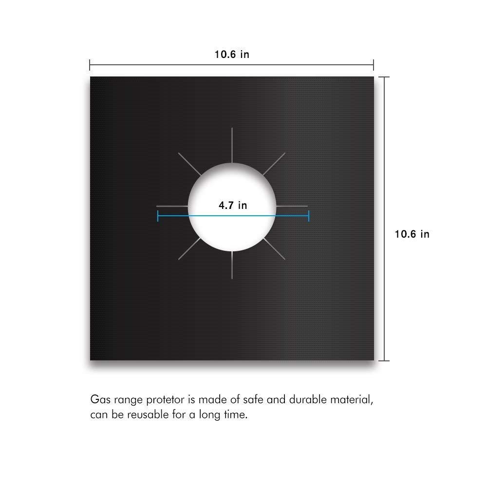 6 Pezzi Protezioni per Piani Cottura Gamma Gas Protezioni per Piano Cottura Bruciatori Coperchi Fodera per Tappetino Pulito Antiaderente Facile da Pulire Yacca Protezioni per fornelli a Gas