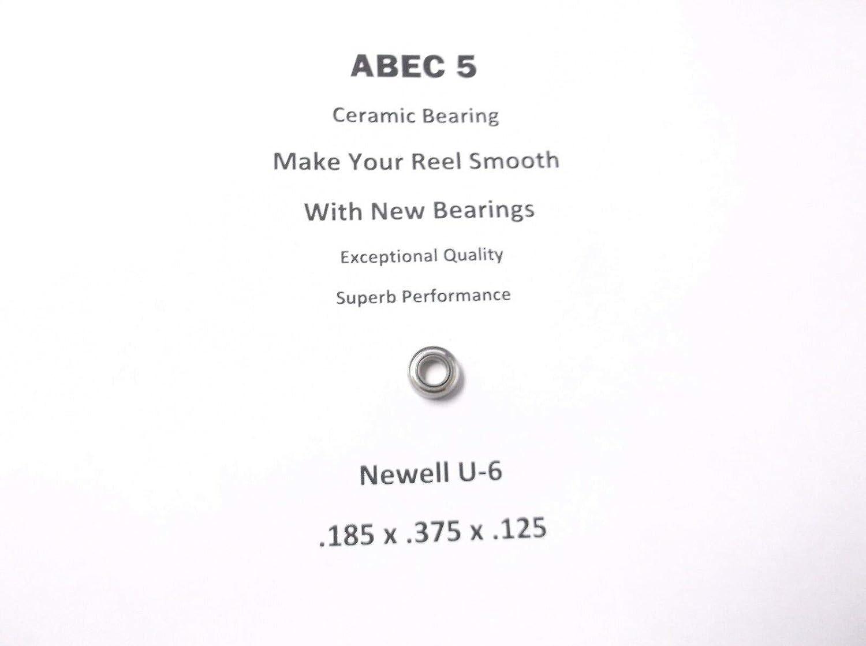 Newell Reel Part 646 4.2 U-6 ABEC 5 Ceramic Bearing .185 x .375 x .125#17