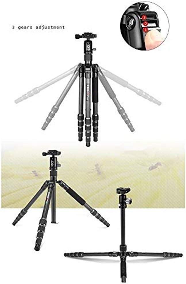 SECPTJ4 Camera Tripod Camera Tripod Folding Size 35.5cm Camera Stand Single-Legged SLR Camera Tripod Pan//tilt Set Maximum Load-Bearing 10kg 360-Degree Panoramic Shooting