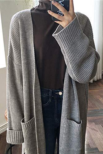 Automne Unique Zhrui Printemps Des Vêtements Gris couleur Avec Femme Décontracté Violet Manches Tricoté Taille Longues ttqOw4f