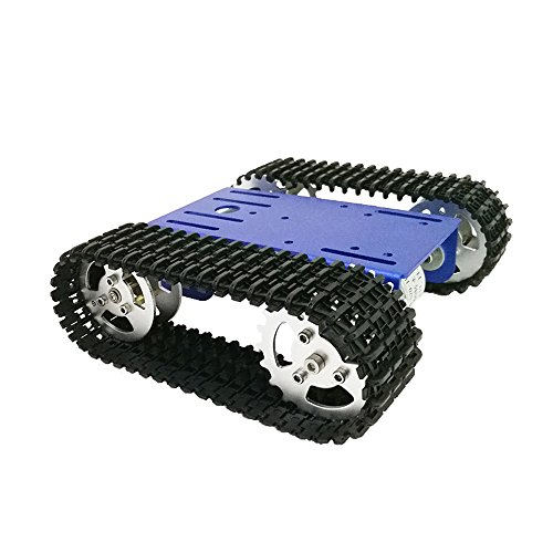 Mini T101 Smart Robot Tank Chassis Tracked Car Platform with 33GB-520 Motor for DIY Robot Graduation (Tracked Vehicle Chassis Kit)
