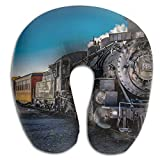 Gtrgh Retro Steam Train Super U Type Pillow Neck Pillow Outdoor Travel Pillow Relief Neck Pain