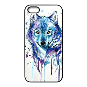 DIY Phone Case for Iphone 5,5S, Rainbow Wolf Cover Case-R671242