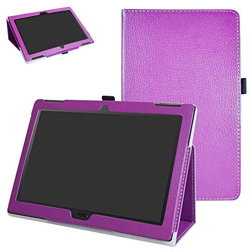 Lenovo moto tab X704A Case,Mama Mouth PU Leather Folio 2-folding Stand Cover with Stylus Holder for 10.1 Lenovo moto tab X704A / Lenovo Tab 4 10 Plus Tablet,Mushroom Fantasy