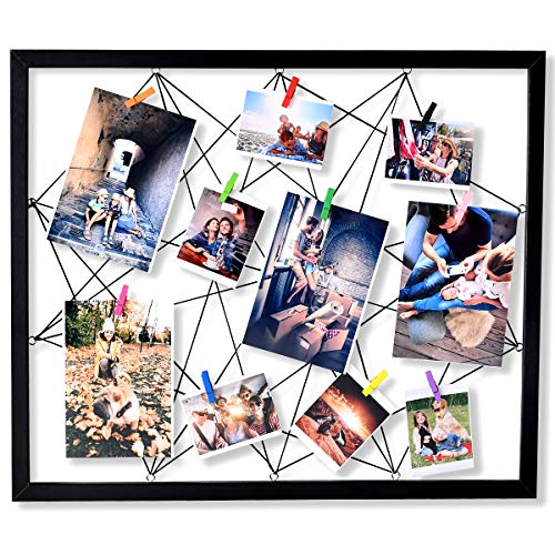 ATOBART Wood Picture Holder Collage Frames Wire Wall Photo Grid Panel 20 x 24 Inch from ATOBART