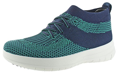 Fitflop Womens Uberknit Slip-on Sneakers Alte Blu Notte Midnight / Parakeet Verde