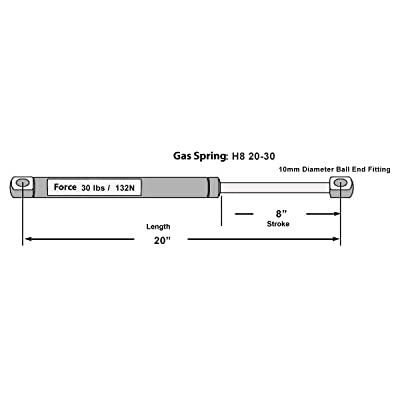 "Hatchlift Products Gas Spring 20"" x 30 lb Force: Automotive"