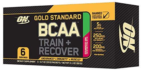 Optimum Nutrition Gold Standard BCAA Travel Size, Strawberry Lime, 3 Count