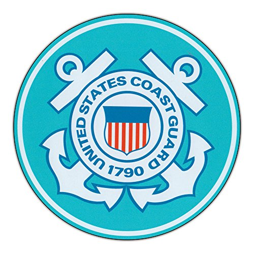 Magnetic Bumper Sticker - United States Coast Guard (USCG) - Round Military Support, Pride Magnet - 5