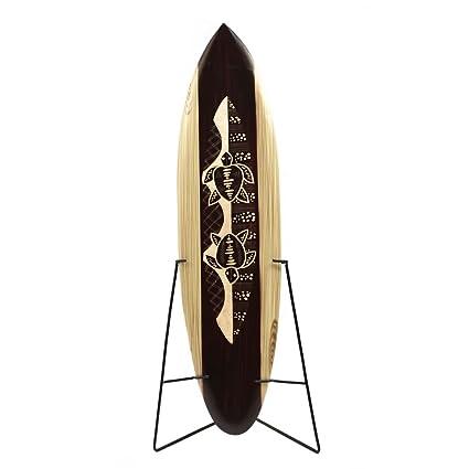 Yunque decorativo tabla de surf 80 cm con diseño de tortugas tallada