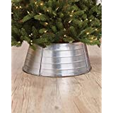 The Lakeside Collection Decorative Metal Christmas Tree Ring - Galvanized